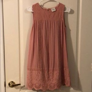 Blush midi summer dress